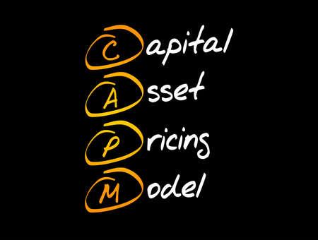CAPM - Capital Asset Pricing Model acronym, business concept background Ilustração