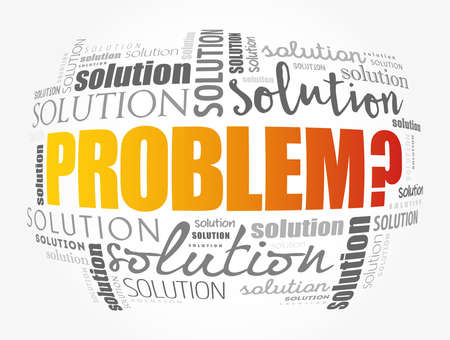 Problem and solution word cloud collage, business concept background Vecteurs