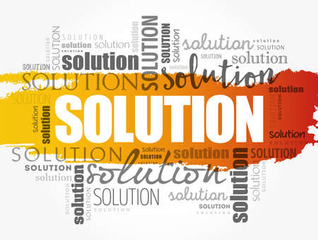 SOLUTION word cloud collage, business concept background
