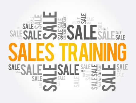 Sales Training words cloud, business concept background