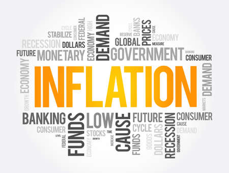 Inflation word cloud collage, business concept background 向量圖像