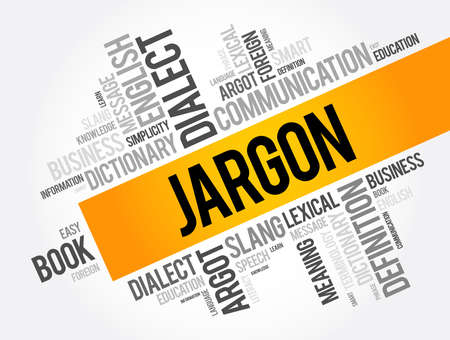 Jargon word cloud collage, education concept background 向量圖像