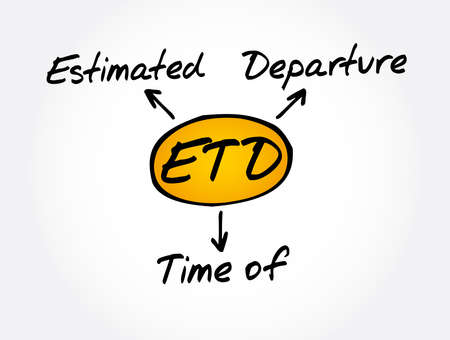 ETD - Estimated Time of Delivery acronym, business concept background