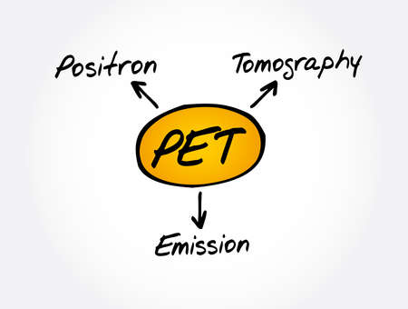 PET - Positron Emission Tomography acronym, medical concept background
