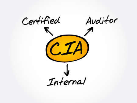 CIA - Certified Internal Auditor acronym, business concept background
