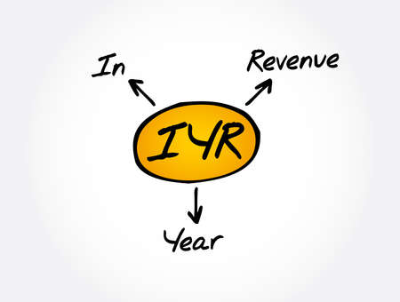 IYR - In Year Revenue acronym, business concept background