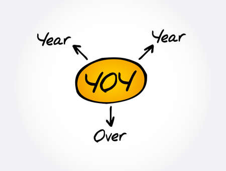 YOY - Year Over Year acronym, business concept background 向量圖像
