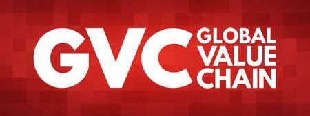 GVC - Global Value Chain acronym, business concept background 免版税图像 - 157931444
