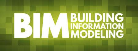BIM - Building Information Modeling acronym, business concept background Vecteurs
