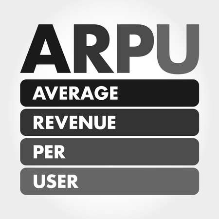 ARPU - Average Revenue Per User acronym, business concept background