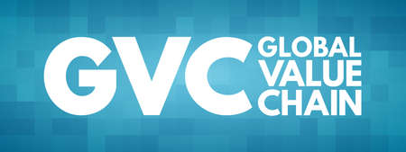 GVC - Global Value Chain acronym, business concept background Illusztráció
