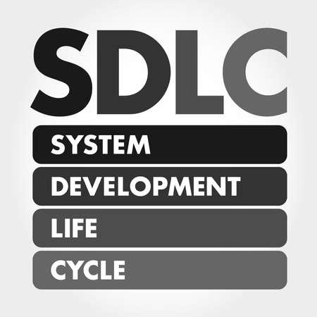 SDLC - System Development Life Cycle acronym, business concept background