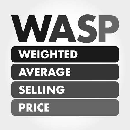 WASP - Weighted Average Selling Price acronym, business concept background Illusztráció