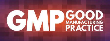 GMP - Good Manufacturing Practice acronym, business concept background Illusztráció