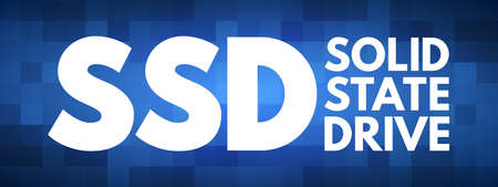 SSD - Solid State Drive acronym, technology concept background Ilustrace