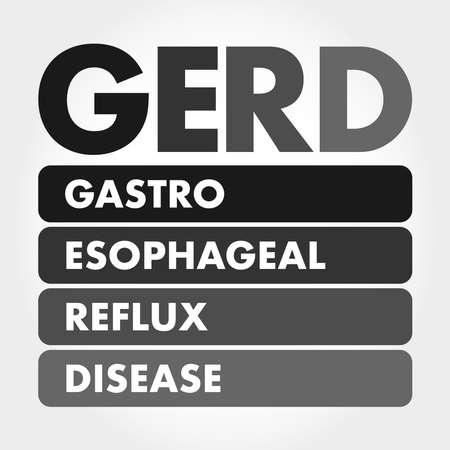 GERD - Gastroesophageal Reflux Disease acronym, medical concept background 矢量图像