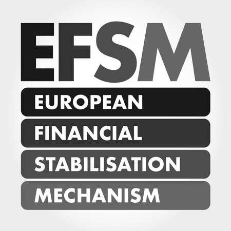 EFSM - European Financial Stabilisation Mechanism acronym, business concept background 矢量图像