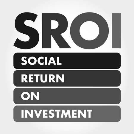 SROI - Social Return On Investment acronym, business concept background