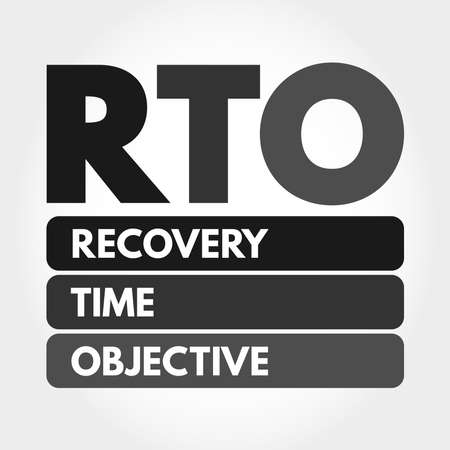 RTO - Recovery Time Objective acronym, business concept background Stock fotó - 157927184