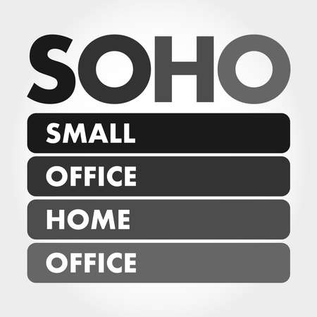 SOHO - Small Office Home Office acronym, business concept background Illustration