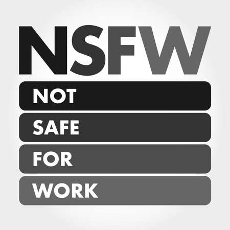 NSFW - Not Safe For Work acronym, business concept background 向量圖像