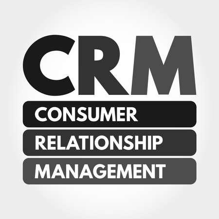 CRM - Consumer Relationship Management acronym, business concept background 向量圖像