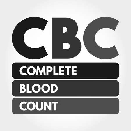 CBC - Complete Blood Count acronym, medical concept background