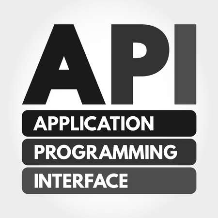 API - Application Programming Interface acronym, technology concept background