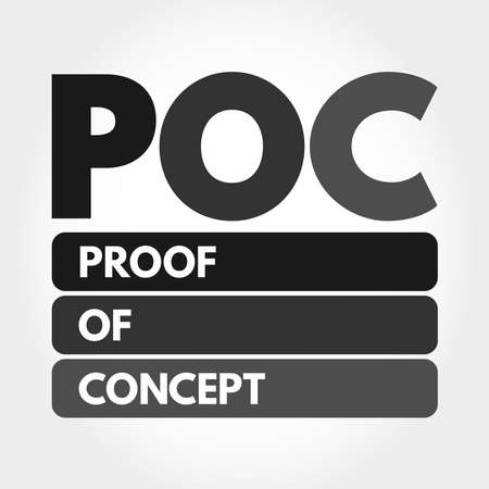 POC - Proof of Concept acronym, business concept background 向量圖像