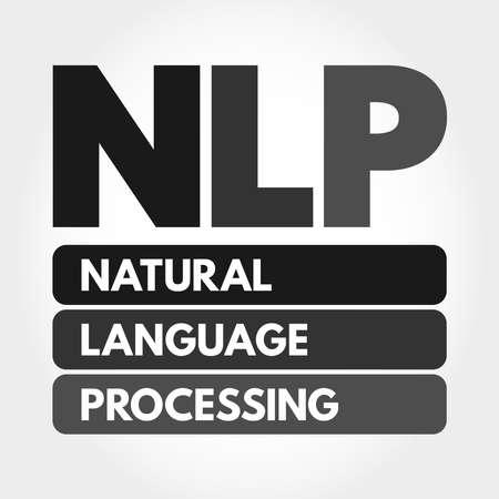 NLP - Natural Language Processing acronym, concept background 向量圖像