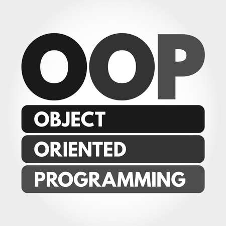 OOP - Object Oriented Programming acronym, technology concept background 向量圖像