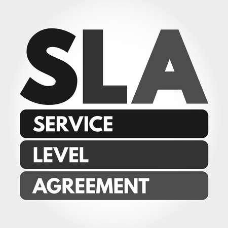 SLA - Service Level Agreement acronym, business concept background Stock fotó - 157927236