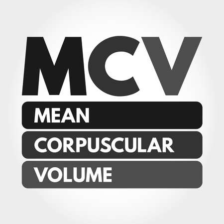 MCV - Mean Corpuscular Volume acronym, medical concept background