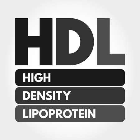HDL - High-density lipoprotein acronym, medical concept background Illusztráció