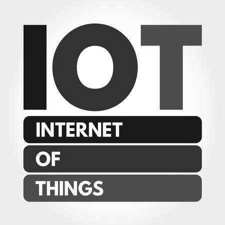 IOT - Internet Of Things acronym, technology concept background