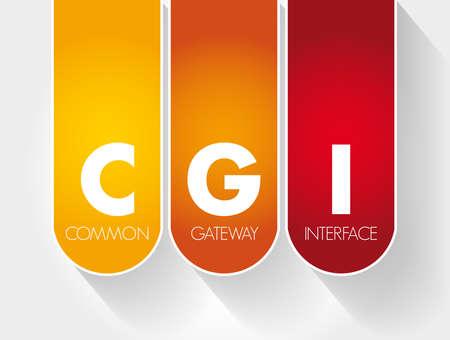 CGI - Common Gateway Interface acronym, technology concept background