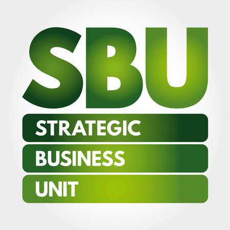 SBU - Strategic Business Unit acronym, concept background