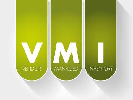 VMI - Vendor Managed Inventory acronym, business concept background