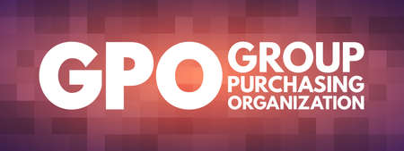 GPO - Group Purchasing Organization acronym, business concept background
