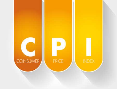 CPI - Consumer Price Index acronym, business concept Illusztráció