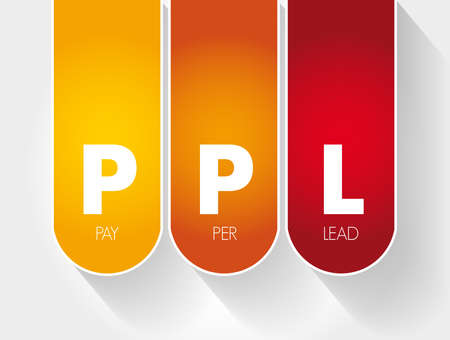 PPL - Pay Per Lead acronym, business concept background 向量圖像