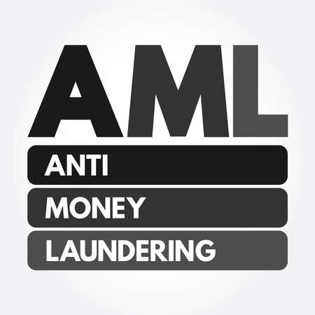 AML - Anti Money Laundering acronym, business concept background