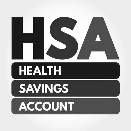 HSA - Health Savings Account acronym, medical concept background 版權商用圖片 - 157927496