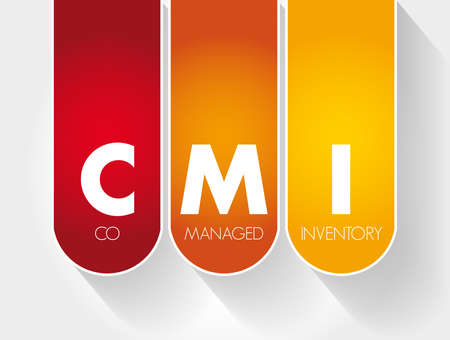CMI - Co Managed Inventory acronym, business concept background