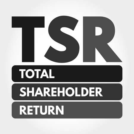 TSR - Total Shareholder Return acronym, business concept background 向量圖像