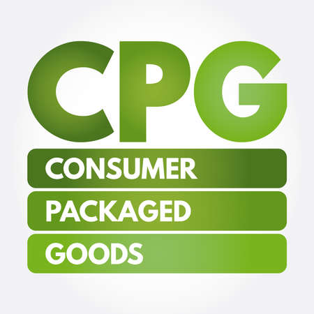 CPG - Consumer Packaged Goods acronym, business concept background Illustration