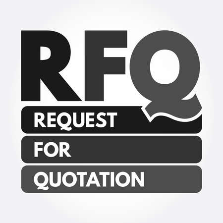 RFQ - Request For Quotation acronym, business concept background Stock fotó - 157927989