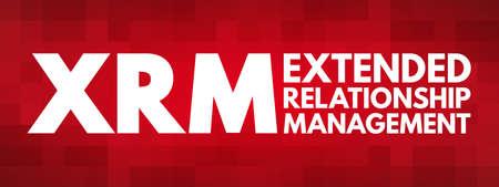 XRM - Extended Relationship Management acronym, business concept background Vector Illustration