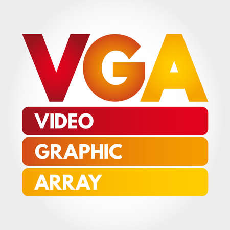 VGA - Video Graphic Array acronym, technology concept background