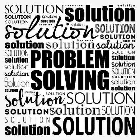 Problem solving aid word cloud collage, business concept background Vecteurs
